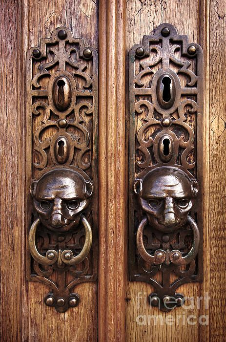 This would be an awesomesauce front door...if the faces were skulls!!