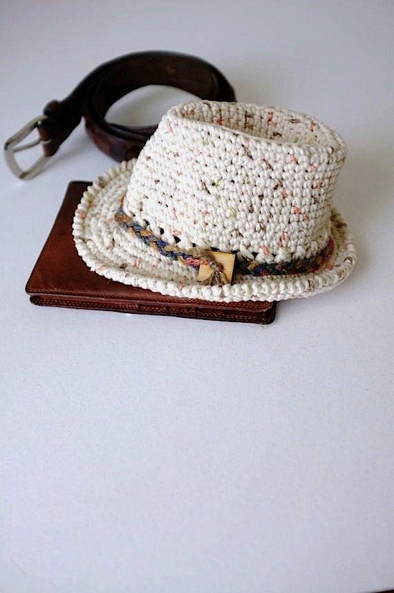 Bebé Fedora sombrero Crochet recién Fedora fotografía por milazshop