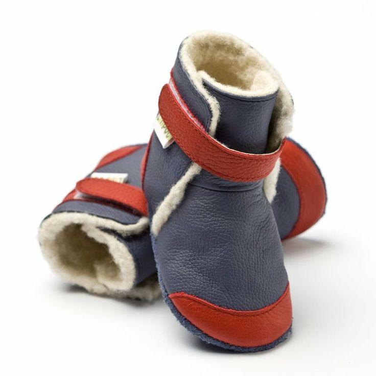 Liliputi® soft soled booties Antarctic Blue