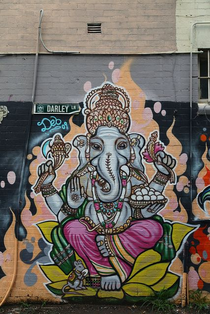 Ganesh street art whaaat