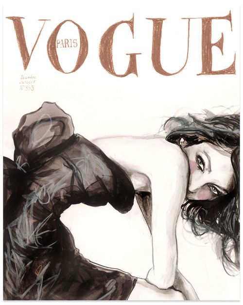 Vogue illustrated cover