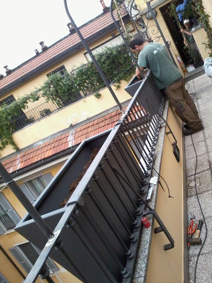 Realizzazione impianto per terrazzo verde - Milano (MI)