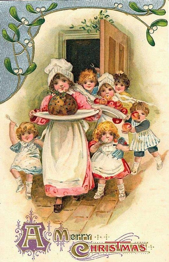 Harriet Mary Bennett (1817-1881) — Christmas Postcard  (581x900):