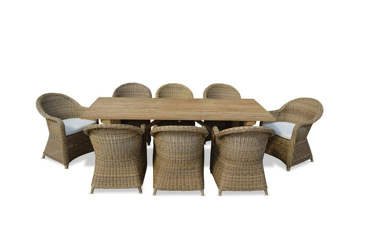 Bay Gallery Furniture Store - RUSTIC INDUSTRIAL OUTDOOR TEAK DINING TABLE w/ PLANTATION CHAIRS , $3,099.00 (http://www.baygallery.com.au/whats-new/rustic-industrial-outdoor-teak-dining-table-w-plantation-chairs/)