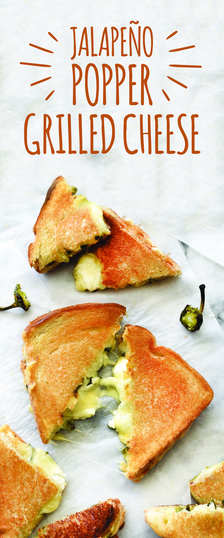 Grilled cheese – not just for kids! A touch of heat in this drool-worthy Jalapeño Popper Grilled Cheese will make grown-ups happy too. Plus, Arla Muenster cheese makes your perfectly toasted grilled cheese #cheesepull simply better. Get the recipe now!