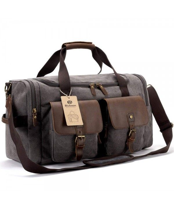 Travel Duffels Weekend Duffle Bag Leather Overnight Canvas With Shoe Compartment