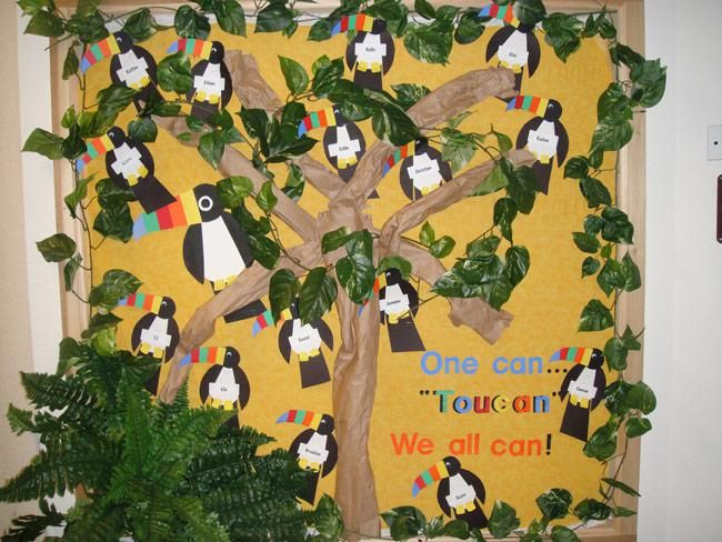 Tropical+Toucan+Welcome+Back-to-School+Bulletin+Board+Idea