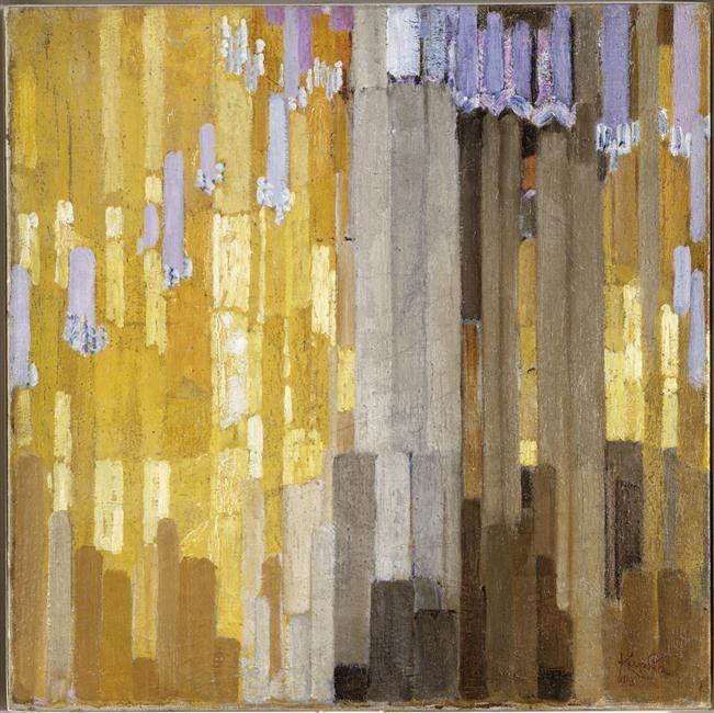 Kupka Frantisek, Ordonnance sur verticales en jaune, 1913 (Centre Pompidou)