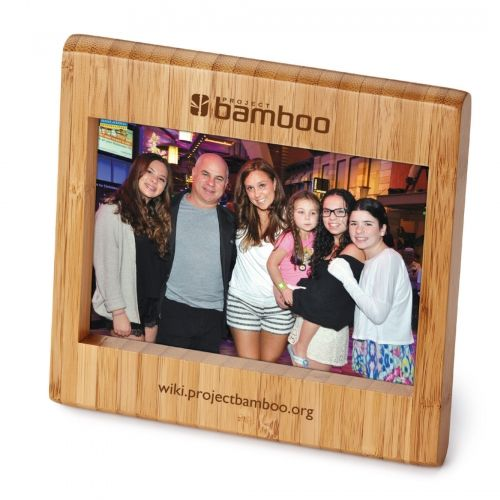 "Bamboo photo frame fits one 4"" x6"" photograph in landcape position"