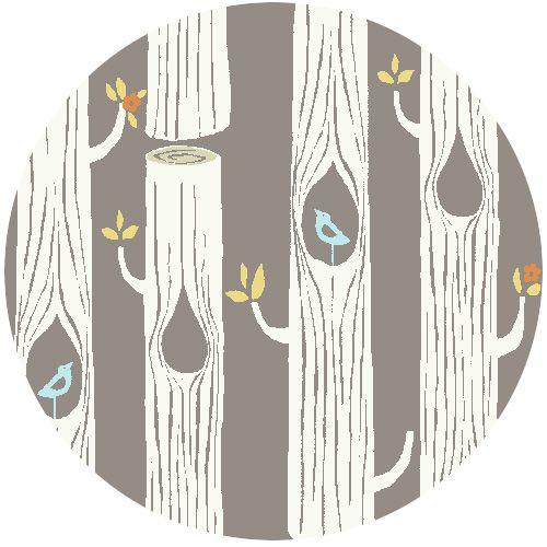 Monaluna for Birch Organic Fabrics, Circa 52, Tree Stripes Shroom