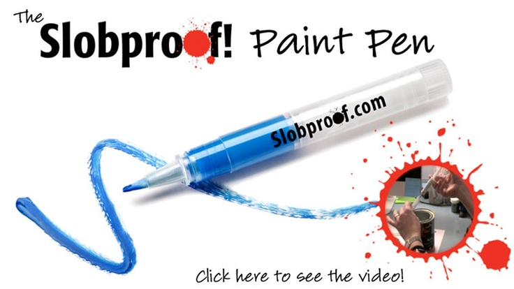 This pen lets you load it up with paint and save it for years to touch up dings on your walls. Easier than dealing with mostly-empty paint cans.