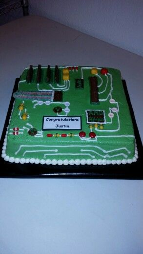 Circuit board cakecomputer cake  My cakes in 2019  Cake Computer cake Cake decorating
