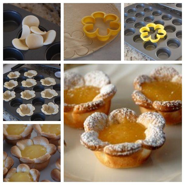 How to DIY Mini Lemon Flower Curd Tarts