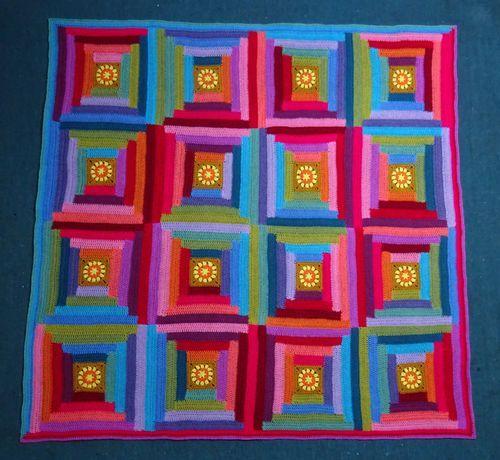 116 best afghan log cabin images on pinterest crochet for Log cabin blanket