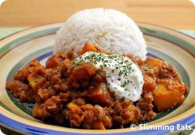 Have to try thisRoasted Butternut Squash and Lentil Curry | Slimming Eats - Slimming World Recipes