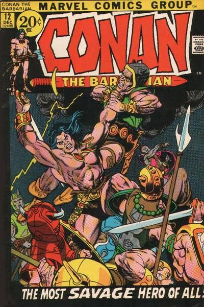 Conan the Barbarian #12. Cover by Gil Kane.