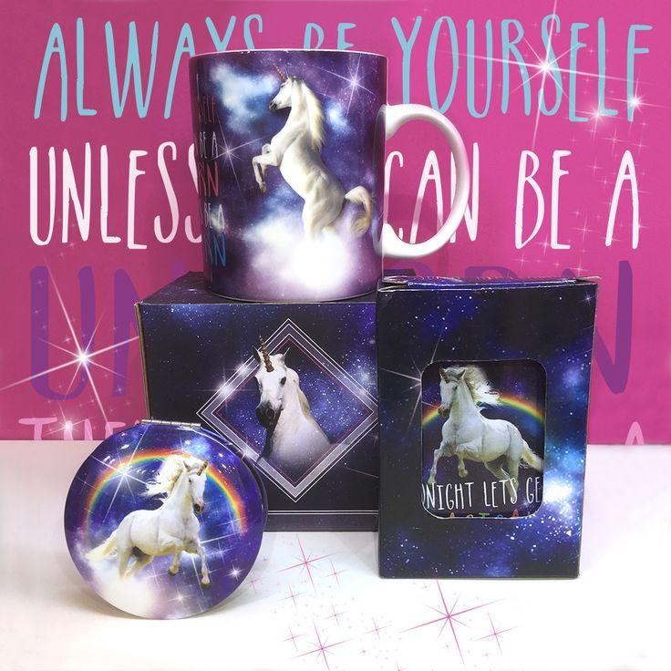 Majestic Unicorn Range by Lauren Billingham #unicorn #mug #mirror #giftware #giftideas