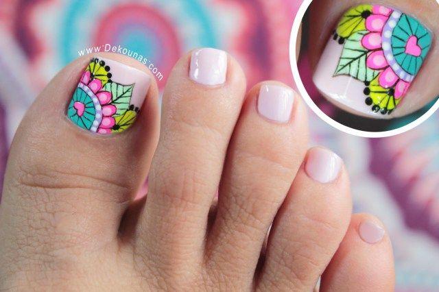 Diseño de uñas pies Mandalas4 copy