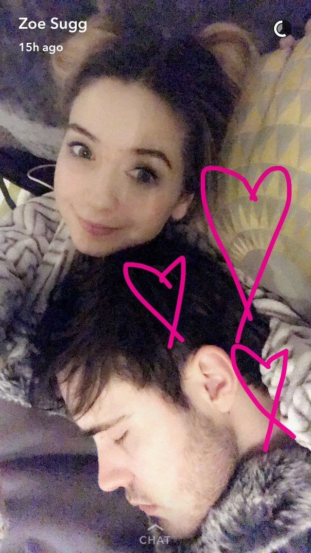 A snap from Zoella's Snapchat (officialzoella)
