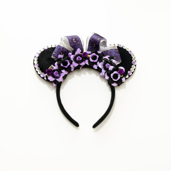 Haunted Mansion Disney Ears Headband, Mouse Ears, Haunted Mansion Ears, Disney Halloween Ears, Minnie Halloween Ears, Disney Bound