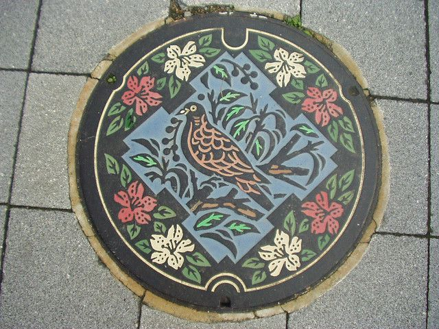 art design | street art | manhole cover | japan | ikeda city | osaka pref.