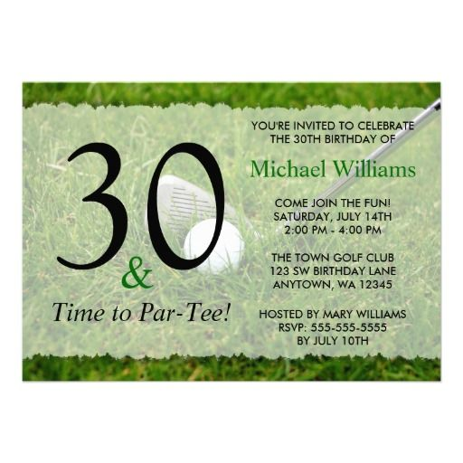 20 best golf themed birthday invitations images on pinterest 30th golf birthday party invitation stopboris Image collections