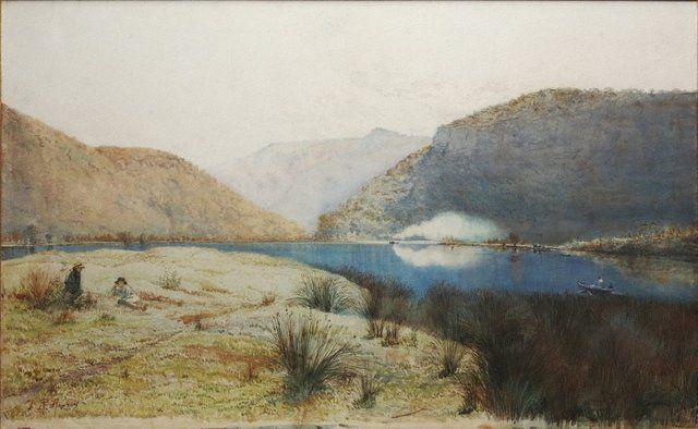An image of Sentry-box Reach, Hawkesbury River, New South Wales - Julian Ashton