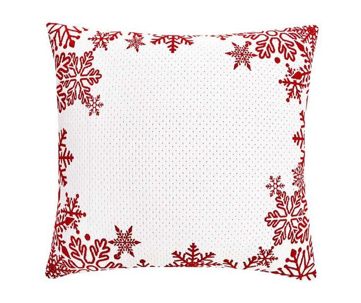 Frosty Snowflakes White Párnahuzat 50x50 cm - Vivre