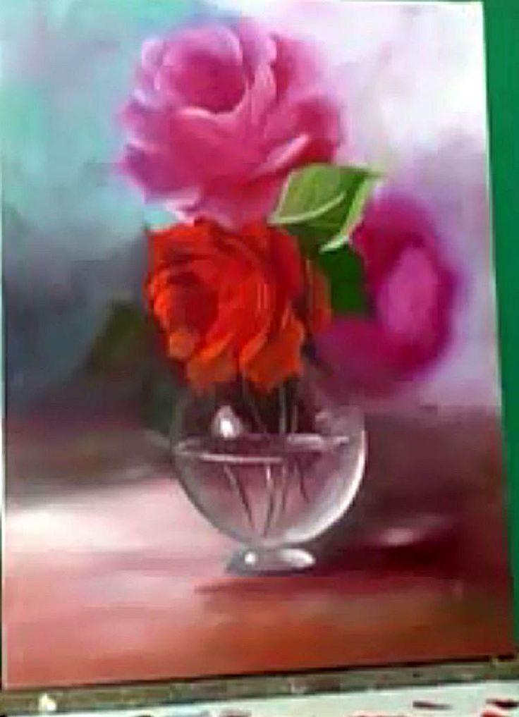 113) Pintura Em Tela A Óleo-Como Pintar Vaso De Vidro-Tirando Dúvidas Sobre Pintura - Vaso de Vidro - Escudeiro