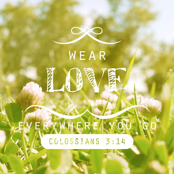 WEAR LOVE // Scripture Print on Wood // Handmade Home by Avonnie, $27.00