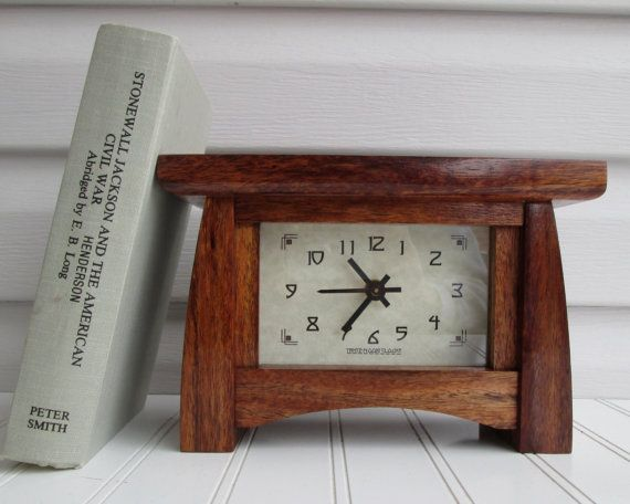 Mantel Clock Wood Clock Bungalow Clock Craftsman by TanteandOom  holy crap I love this clock