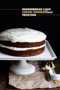 Gingerbread Cake w. Lemon-Ginger Cloud Frosting // Hungry Girl por Vida