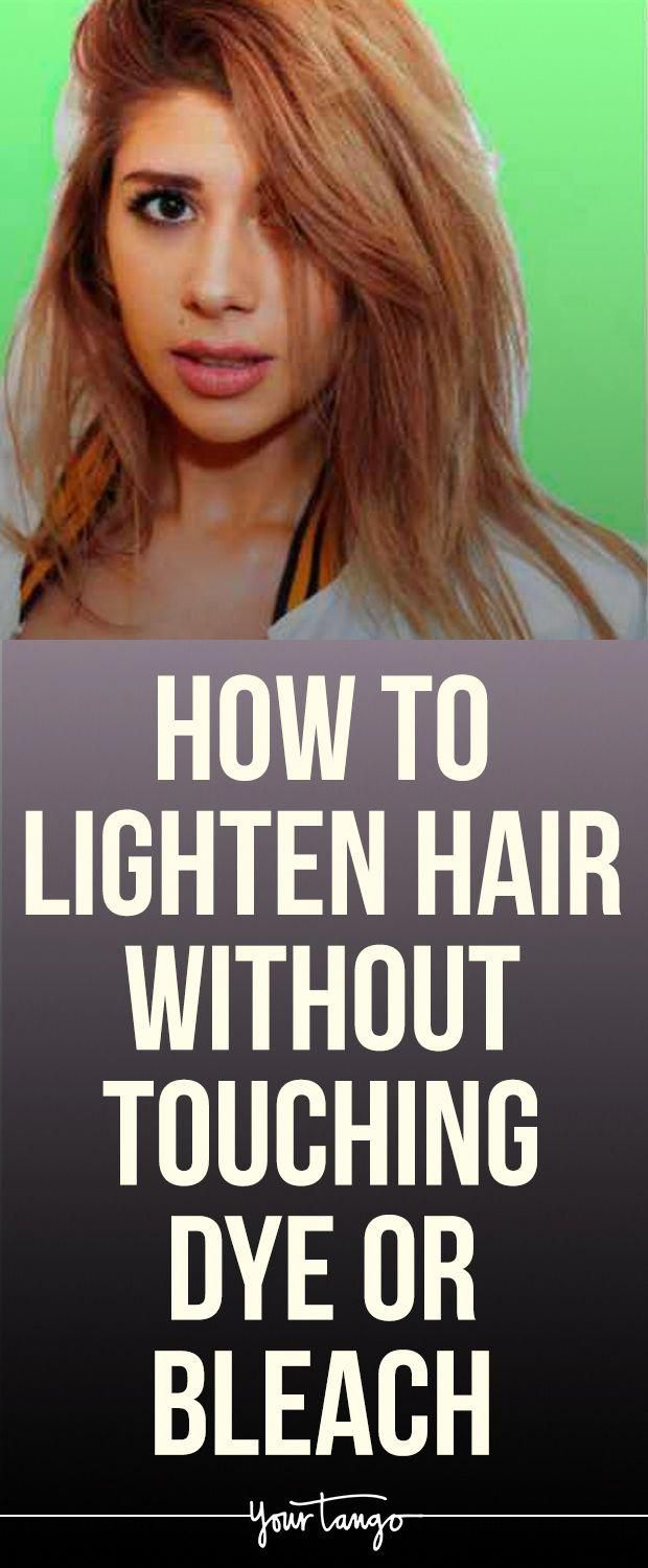 How To Lighten Hair Without Touching Dye Or Bleach ...