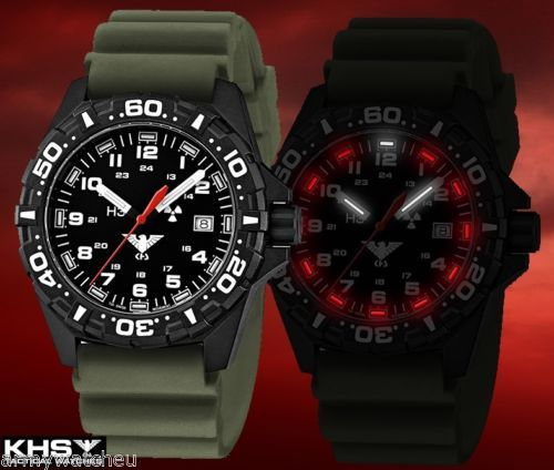 Military-Tactical-Watch-KHS-Germany-Red-Reaper-H3-Trigalights-Diver-Watchband