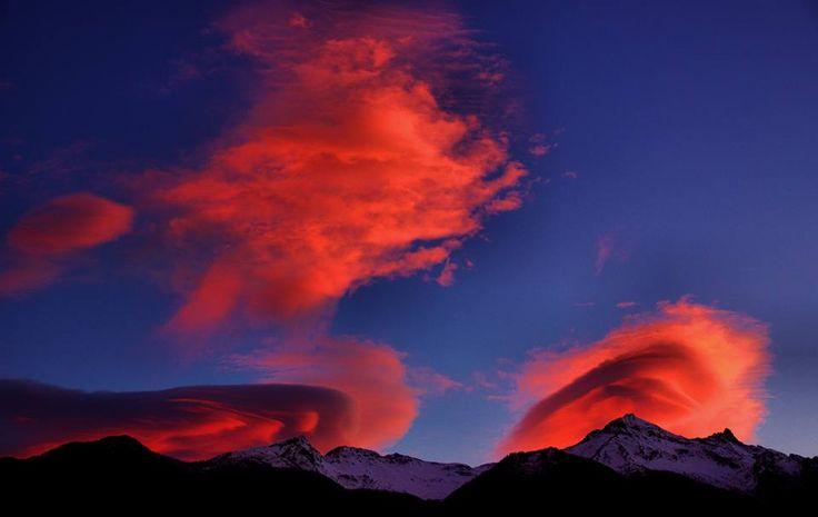 Nubi lenticolari sull'Orsiera  (01-02-16 - Foto di Maurizio Bresciani)