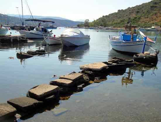Fishing boats in #Vivari village, only a short drive from #Nafplio, #Greece