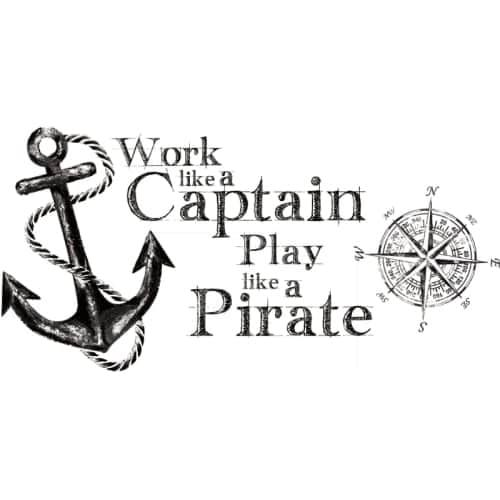 RoomMates RMK2320GM Variable Sized - Work Like a Captain Quote - Self-Adhesive R (Vinyl)