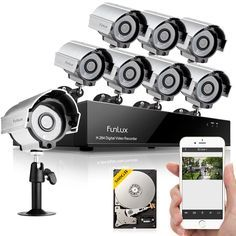 Funlux 8 CH HDMI DVR IR Night Vision Outdoor Home Security Camera System  500GB #Funlux