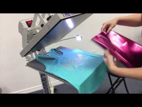 Create a 5 Color Foil Shirt with Easyweed Adhesive and TRW Magic Foil - YouTube