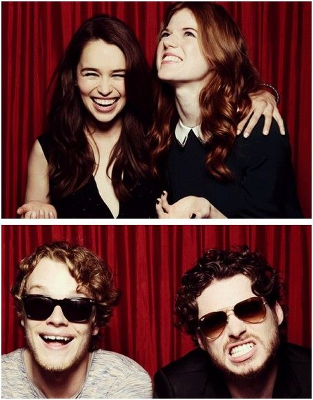 Emilia Clarke, Rose Leslie, Alfie Allen and Richard Madden photoset