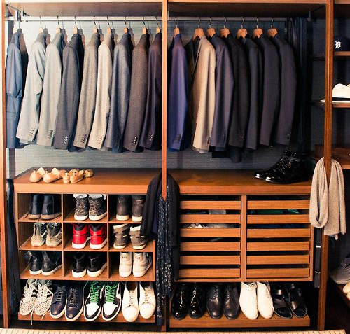 his closet - my ideal home...