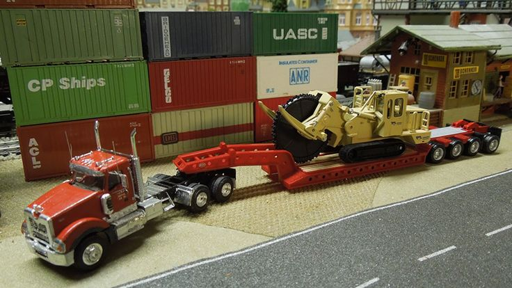 Mack Titan Truck Tractor & Lowboy Trailer - By Peter Rabel