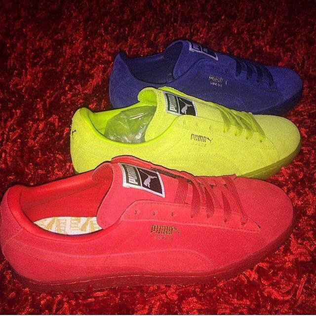 puma neon green shoes