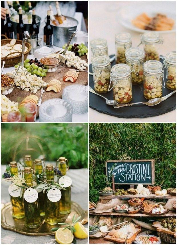 25 best ideas about italian buffet on pinterest for Wedding canape ideas