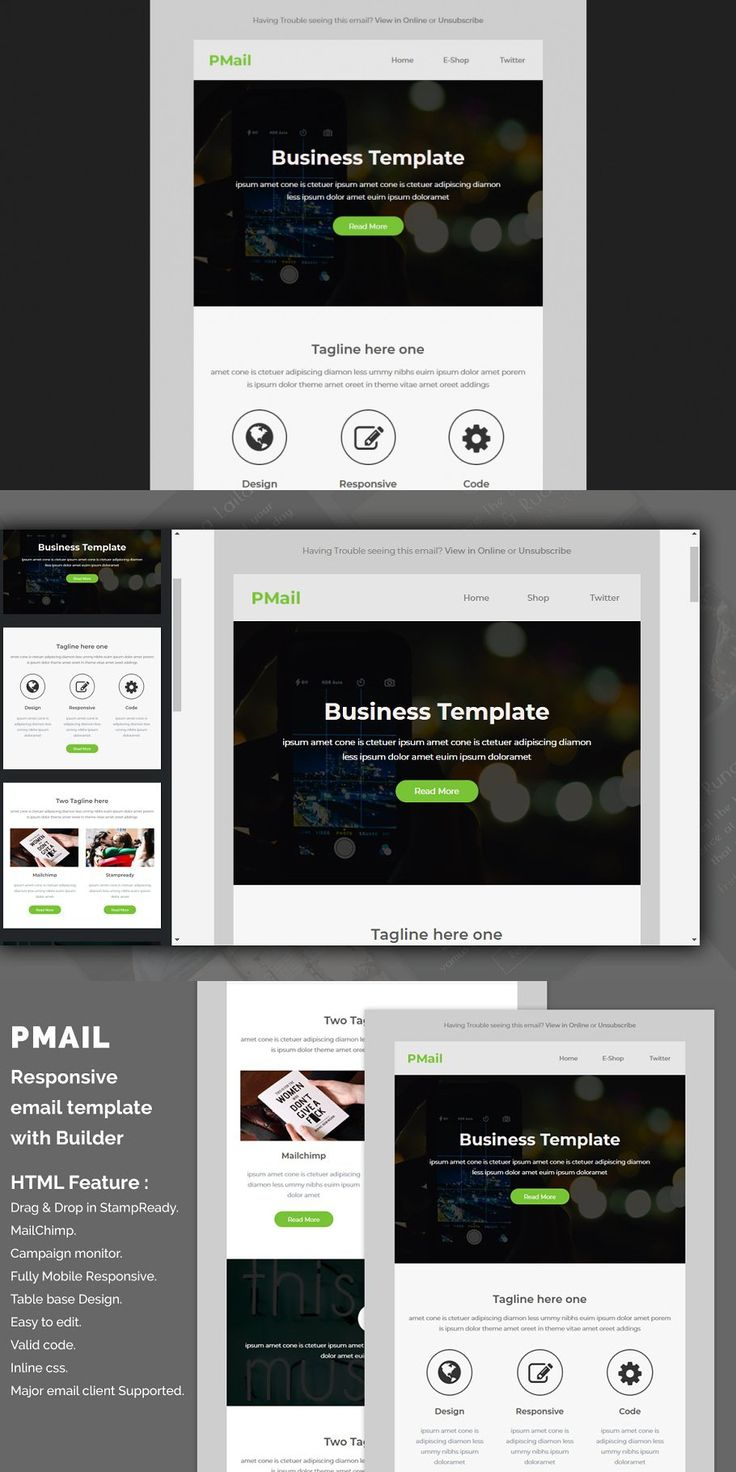 Pmail - Responsive email template