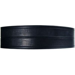 Lanvin Thick Leather Waist Belt in Black as seen on Fergie