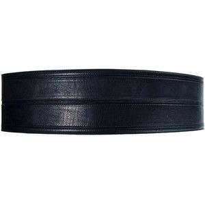 Lanvin Thick Leather Waist Belt in Black as seen on Fergie