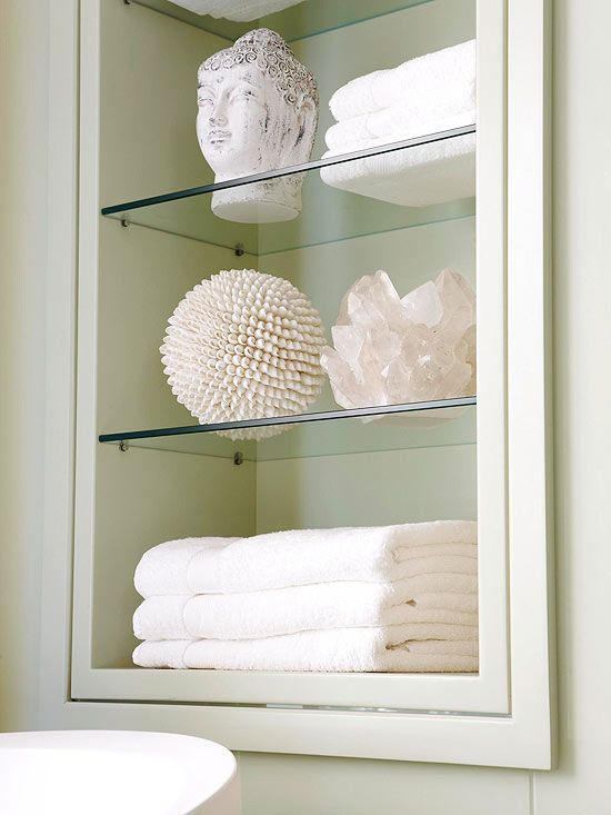 Quick And Easy Bath Storage. Glass Bathroom ShelvesGlass ...