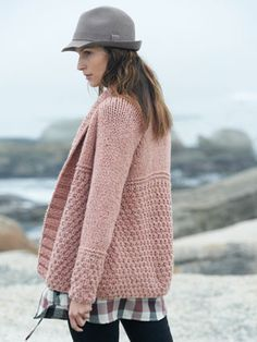 think I would put in at least one buttonhole and a gorgeous large button onto this pattern from Sirdar's Big Bamboo Knits (409) and features 15 handknits for women in fabulously soft and light Sirdar Big Bamboo yarn.