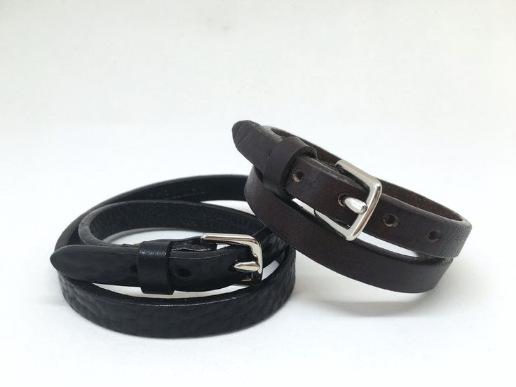 Add some edge to your look with our Genuine Calf Skin Leather Double Wrap Bracelet. #mensfashion #bracelet #leatherbracelet